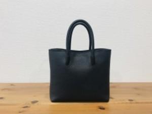 軽い!牛革姫路レザー・中型ハンドバッグ【黒】